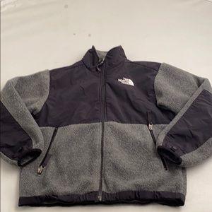 North Face Denali gray/black boys medium